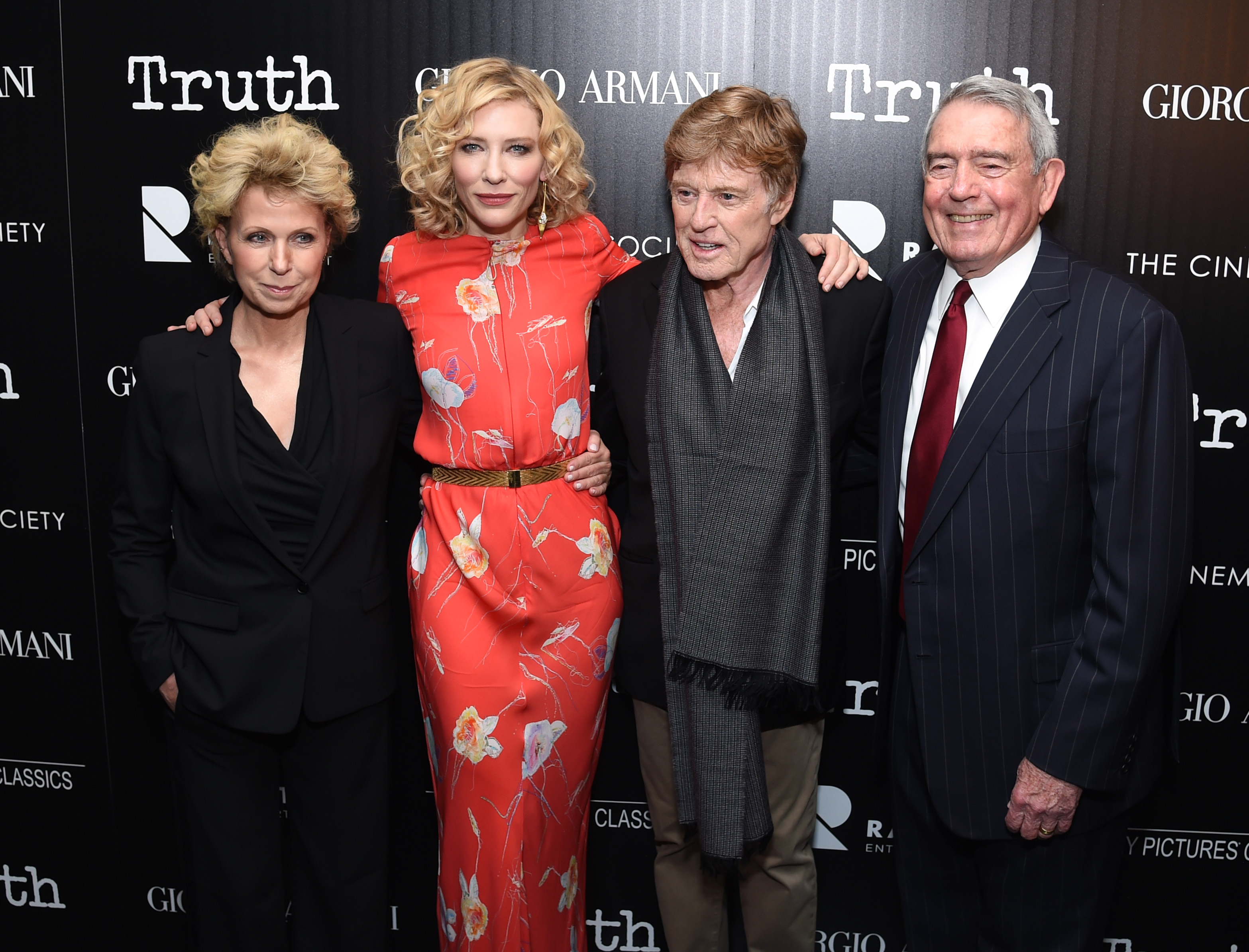 Giorgio Armani hosts 'Truth' film screening at the Cinema Society, New York, America - 07 Oct 2015