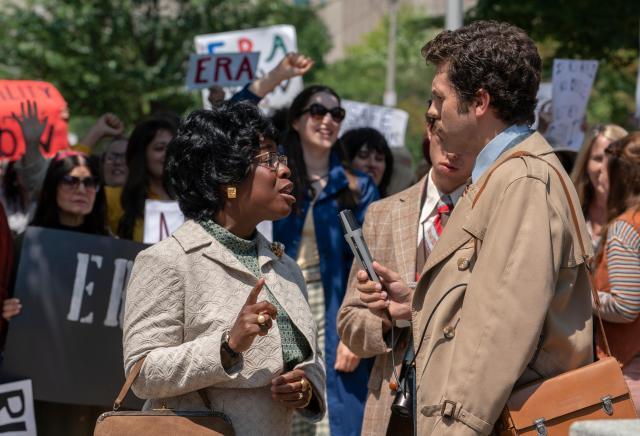 MRS. AMERICA -- Pictured:  Uzo Aduba as Shirley Chisholm. CR: Sabrina Lantos/FX